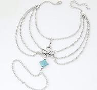 Anklet/Bracelet Others Unique Design Fashion Alloy Resin Silver Blue Women's Jewelry 1pc