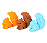 1pc Cartoon Squirrel Shape Tea Infuser Green Tea Filter Creative Silicone Loose Tea Leaf Strainer Bag Mug