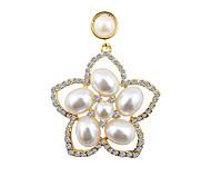 Korean Diamond Pearl Large Petals Earrings