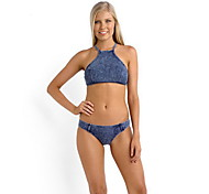 Women's Swimwear Quick Dry / Compression Bikinis Adjustable Blue S / M / L