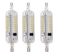 5W R7S LED a pannocchia T 76 SMD 4014 800 lm Bianco caldo / Luce fredda Impermeabile / Decorativo AC 220-240 V 3 pezzi