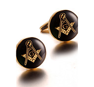Men's Fashion Club Print Gold Alloy French Shirt Cufflinks (1-Pair) Christmas Gifts