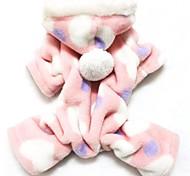 Коты Собаки Толстовки Комбинезоны Пижамы Розовый Одежда для собак Зима Весна/осень В горошек Милые На каждый день