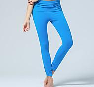 Pantaloni da yoga Pantalone/Sovrapantaloni Traspirante Liscio Naturale Elastico Abbigliamento sportivo Nero Blu Viola Per donnaYoga