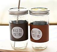 vetro di grandi dimensioni capacità di tazza di succo di paglia