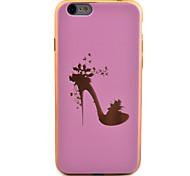espalda Enchapado / Ultra-Fino Flor TPU Suave Plating Cubierta del caso para Apple iPhone 6s/6