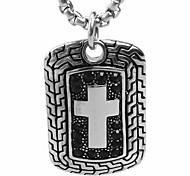 a cruz exército metrosexual marca colar de pingente