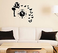 201 Mirror Wall Clock Fashion Personality Stickers Decorative Wall Stickers Mirror Clock
