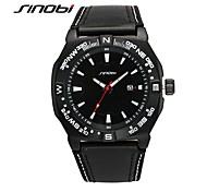 SINOBI cru mens montres homme de musée classique haut de marque de luxe genève quartz meilleurs mâles de qualité montre 2016 horloge