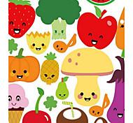 Продукты питания Наклейки Простые наклейки Декоративные наклейки на стены материал Съемная Украшение дома Наклейка на стену