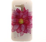 zurück IMD Blume TPU Weich Fall-Abdeckung für Motorola Moto G