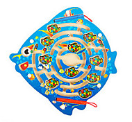 Wooden Cute Ocean Fish Magnetic Maze Puzzle Game kids Educational Toys