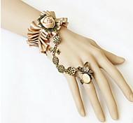 White Lace Flower Ring Bracelet