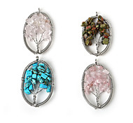Pendants Stone Oval Shape As Picture 1Pc