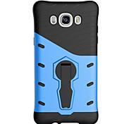 espalda con el soporte Armadura TPU Suave Rotating Armor Cubierta del caso para Samsung Galaxy J7(2016) / Galaxy J5(2016)
