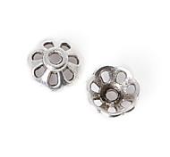 36pcs beadia plata antigua granos de la aleación del casquillo de 8x3mm forma de la flor granos del espaciador