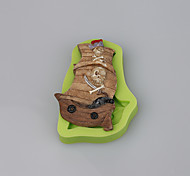 Pirate Ship Cake Decoration Silicone Fondant Mold Baking Sugarcraft Tools Polymer Clay Fimo Chocolate Candy Soap Making