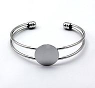 Simple Silver Cuff Bangle Bracelet