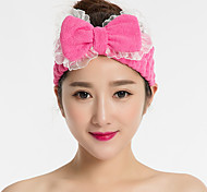 Lace Bow Headband Face Makeup Hairdo Towel