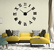 Numeral Clock Oversized 3D Mirror Acrylic Wall Stickers Zhongjing Dian Diy Home Decor