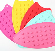 Candy Colored Thick Cellular Silicone Mat Slip Mat Mat Heat Insulation Mat Table Mat A-41 5Pcs