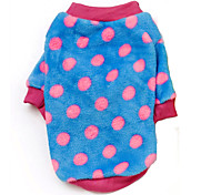 Dog Coat / Sweater Red / Blue / Brown / Yellow Winter Polka Dots / Stars