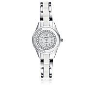jewelora Mulheres Relógio Elegante Relógio de Moda Quartzo Relógio Casual Resistente ao Choque Cerâmica Banda Vintage Prata Prata