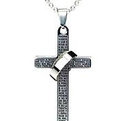 las parejas de titanio de acero de la moda se cruzan, el collar de Jesús de la biblia