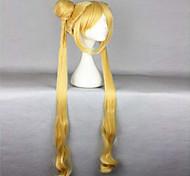 resistentes 100cm mulheres douradas bonitos venda quente de calor de alta qualidade cacheados ondulado peruca cosplay + tranças