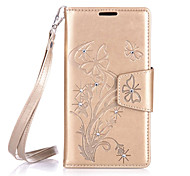 For Samsung Galaxy Grand Prime/Core Prime Luxury Retro Butterfly Diamonds embossed wallet Phone Cover With Stand