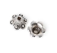 18pcs beadia plata antigua granos de la aleación del casquillo de 5x8mm forma de la flor granos del espaciador