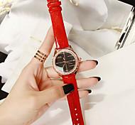 Women's Fashion Leather Band Quartz Watch