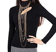 Women's Body Jewelry Belly Chain Body Chain Gold Plated Tassels Statement Jewelry Punk Golden Jewelry Daily Casual 1pc