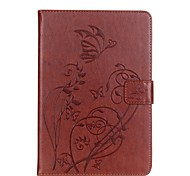 PU leather Material Butterfly Pattern Plate Embossing Protective Case for Apple iPad Mini 4