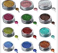 1 Bottle Nail Art Laser Colorful Glitter Shining Powder Manicure Makeup Decoration Nail Beauty L1-16 Random Delivery