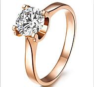 Anéis Fashion / Pedras dos signos Casamento Jóias Prata de Lei / Strass Feminino Anéis Grossos 1pç,5 / 6 / 7 / 8 / 9 / 8½ / 9½ / 4Ouro