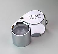 (2 Stück) hochwertige kreative wasserdichte 30-fachen Vergrößerungsglas / Schmucksacheschätzung / UV-Licht / Metall