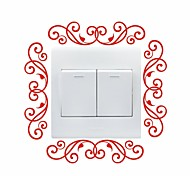 AYA™ DIY Wall Stickers Wall Decals, Flower Vine Design Type PVC Switch Panel Stickers 16*16cm