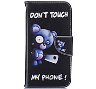 Blue Bear Pattern Card Phone Holster for Moto G4/G4 Plus