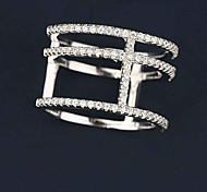 Classic Wang Word Micro Inlaid Ring