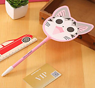 Korean Models Stationery Cute Cat Fan Gel Pen Creative Cute Student Prizes