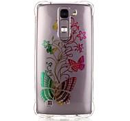 Back Pattern Butterfly TPU Soft Luxury Bronzing Case Cover For LG LG K10 / LG K8 / LG K7