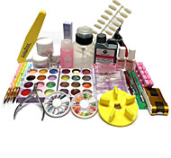 46 Sets Nail Kit Nail Art Decoration Accessories Nail DIY Nail Polish Kit