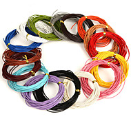 Beadia 5 Mts 1mm Round Leather Cord & Wire & String (16 Colors)