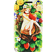Kinston® Strawberry Girl Pattern PU Leather Case For iPhone 7 7 Plus 6s 6 Plus SE 5s 5c 5 4s 4