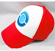 Hat/Cap Inspired by Pocket Monster Ash Ketchum Anime Cosplay Accessories Cap / Figure White / Red Linen Male / Female