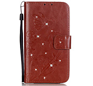 PU Leather Material Sided Embossing Point Drill Phone Case for LG K10/K7/K4/G5/G4/G3/H502/H340N