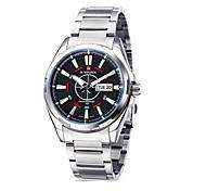 Men's Genuine Leather Japan Quartz Movement Fashion Wrist Watch Military Watches Cool Watch Unique Watch