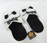 Zapatillas Característica Vellón de Coral Zapatos Kigurumi Pijamas ropa de noche de los animales Blanco / Negro Un ColorHalloween /