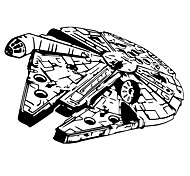 Star Wars Millennium Falcon Spaceship Warship Wall Stickers Big Size Family Living Room Wall Decals